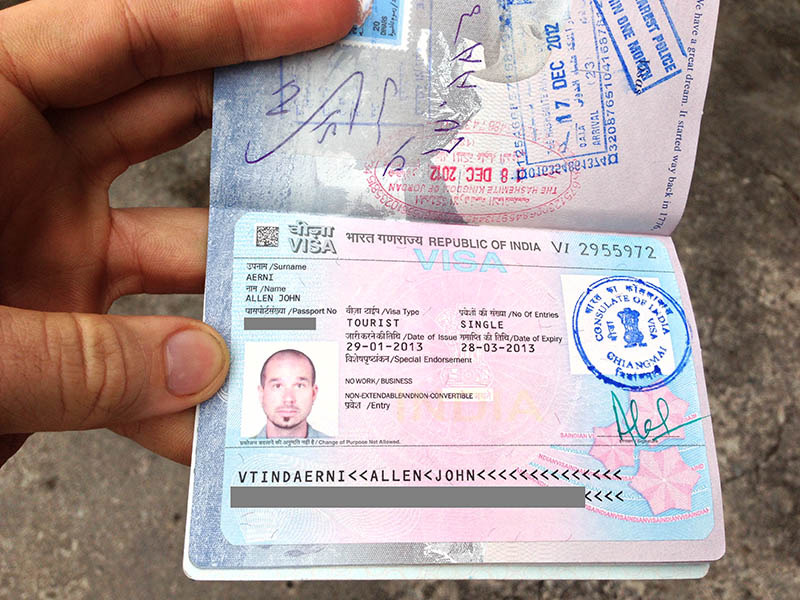 How to get a visa for India while in Chiang Mai