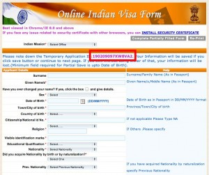 OnlineApp 300x251 How to get a visa for India while in Chiang Mai
