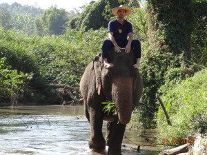 trek02 opt 300x225 Mahout training in northern Thailand